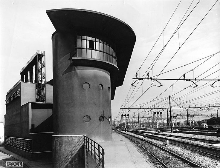 germanpostwarmodern: Boiler house, control cabin and personnel facilities (1927-34) at the station of Florence, Italy, by Angiolo Mazzoni