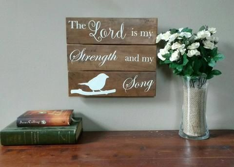 Encouragement Gift - Sympathy Gift - Lord is My Strength