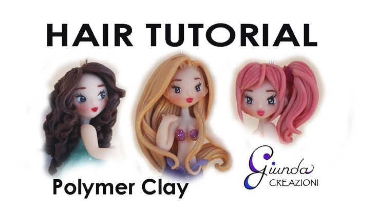 How to make chibi hair polymer clay tutorial