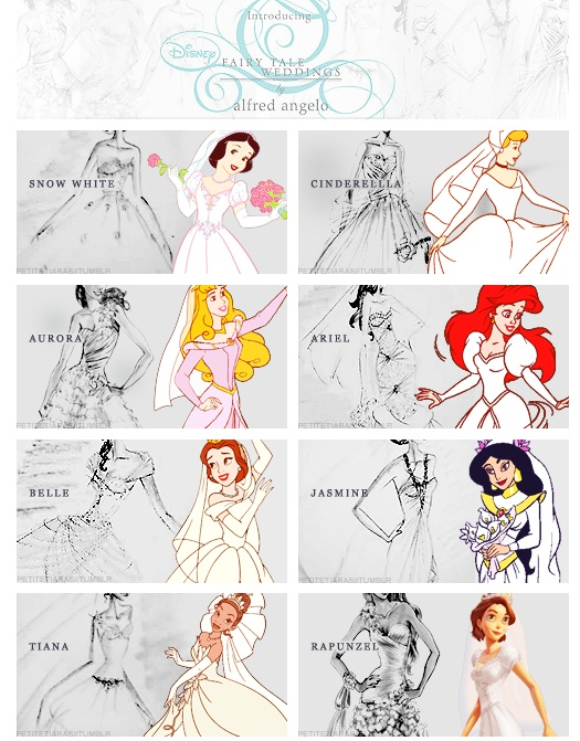 Fairytale weddings! Alfred Angelo http://www.alfredangelo.com/disney/#disneytop