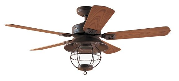 Rustic Ceiling Fans | Fan Blades: Medium Oak Plastic fan blades