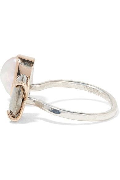 Melissa Joy Manning - 14-karat Gold, Sterling Silver, Pearl And Pyrite Ring - 6