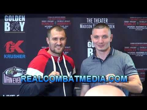 Sergey Kovalev vs. Vyacheslav Shabranskyy Media Conference Call- Kovalev...