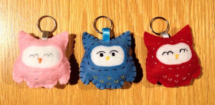 Handmade owl keyrings!