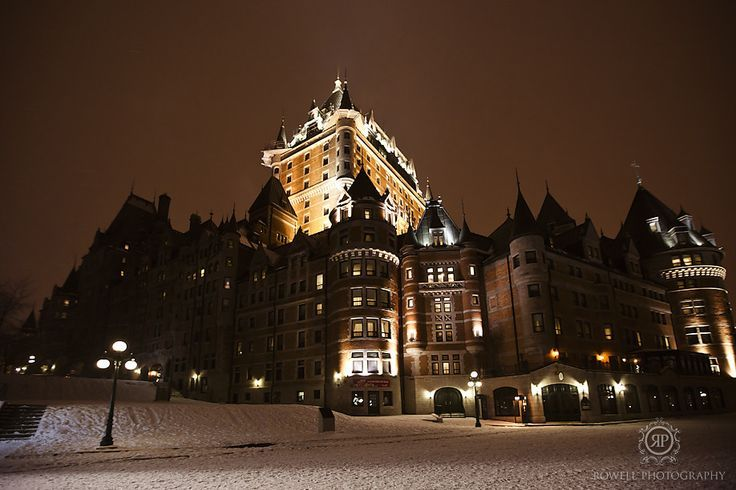 Beautiful Amazing Winter Photos: Quebec Cities, Winter Photo, Fairmont Chateau, Winter Wonderland, Chateau Frontenac, Rowel Photography, Honeymoons Destinations, Cities In Winter, Frontenac Hotels
