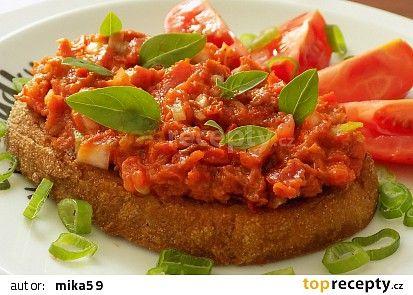 "Rajčatový ""tataráček"" recept - TopRecepty.cz"