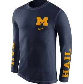 Nike Men's Michigan Wolverines Blue Fresh Tri-Blend Long Sleeve Shirt |  DICK'S Sporting Goods