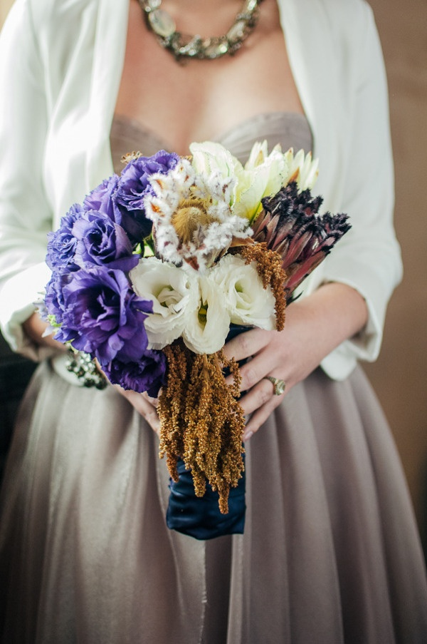 I love the dress! The bouquet is pretty sweet too!