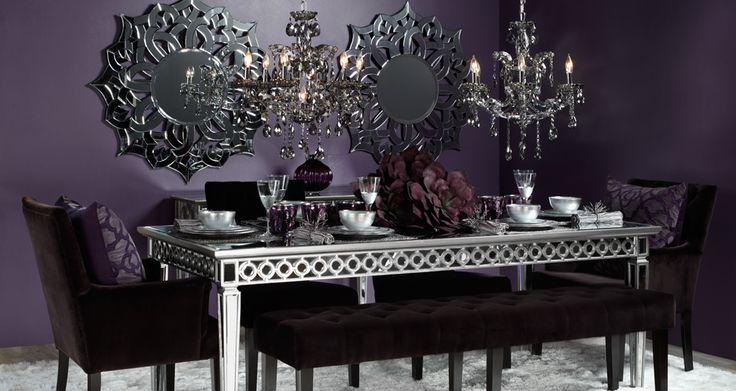 Best 25 purple dining rooms ideas on pinterest purple for Purple dining room table