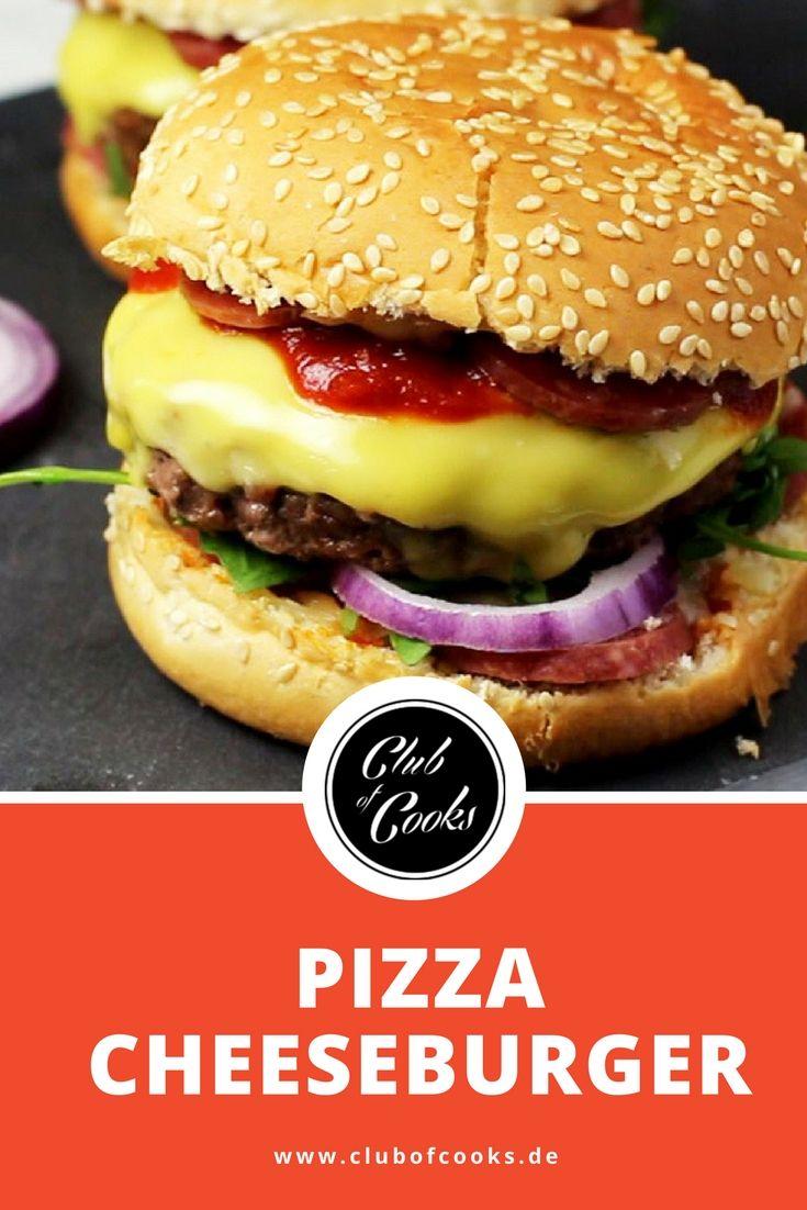 Ein Klassiker neu kombiniert: Pizza Cheeseburger ist doppelt lecker!