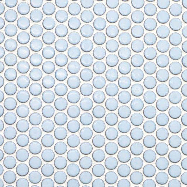 Metro Light Blue Penny Round Porcelain Mosaic Porcelain Mosaic Penny Round Mosaic Penny Tiles Bathroom