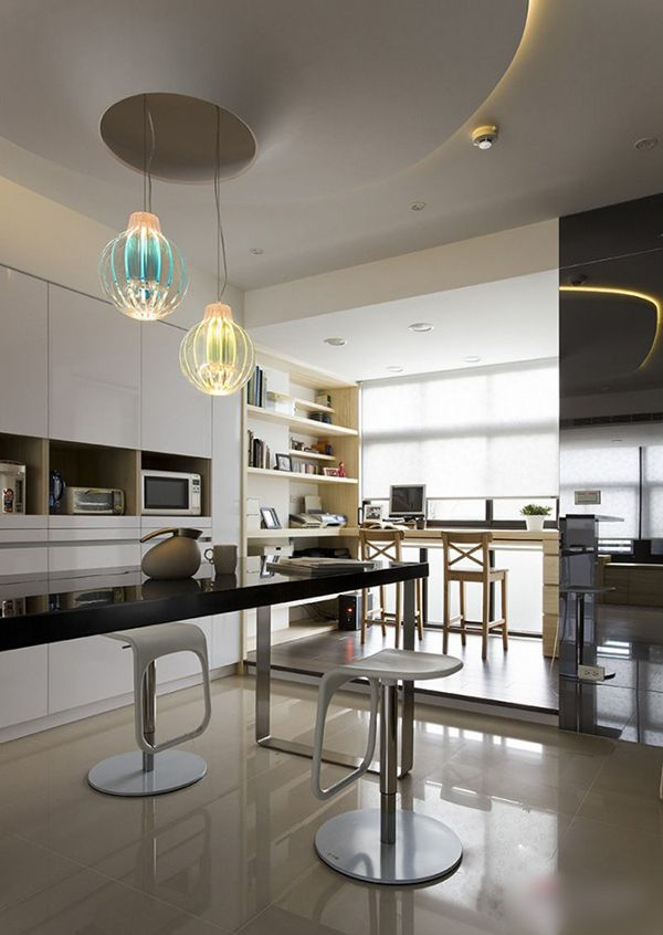 A stylish apartment featuring a warm and elegant color palette