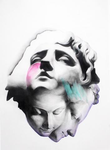 BENEATH THE MOON | Hand Embellished print No. 14