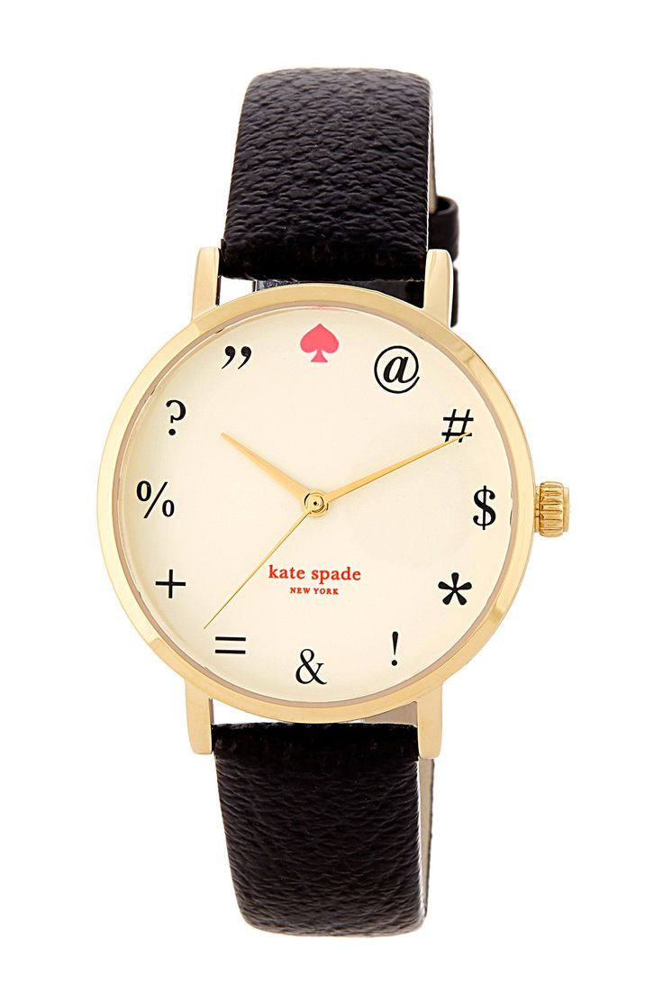 women's metro explicatives leather strap watch by kate spade new york on @nordstrom_rack - literally the exact watch i want