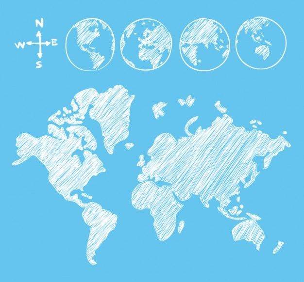 25 Free Vector World Maps