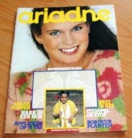 ARIADNE Maandblad voor handwerken, tijdschrift nr. 7 van juli 1979 met werkschrift & werkblad