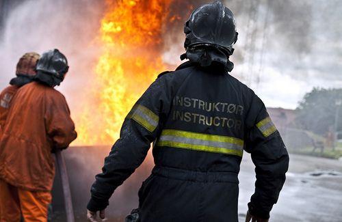 Fotos af medarbejdere og situationer fra undervisningen. RESC - Redning & SikkerhedsCenter