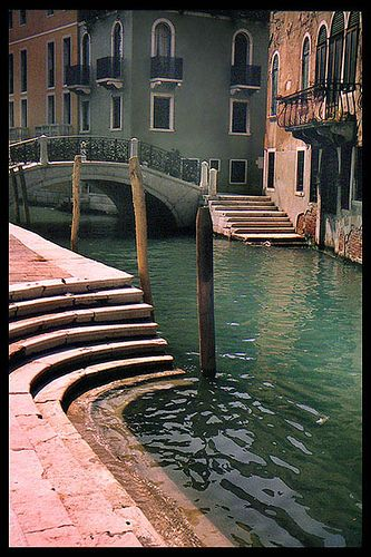 Venice - it was somewhere very like this where one of the boys nearly fell in the canal!