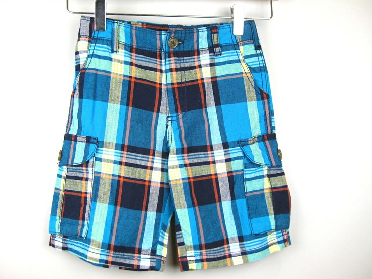 CocoStar - NEW! Carter's Blue Plaid Cargo Shorts, Size 5, $7.50 (http://www.cocostar.ca/new-carters-blue-plaid-cargo-shorts-size-5/)
