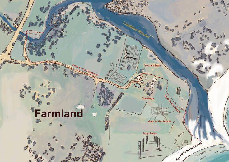 Map of #LisdillonVineyard located on the east coast of #Tasmania