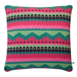 Donna Wilson Hofdi Watermelon Cushion. Another bold hit of colour in a cushion for the Cressida Bell arm chair.