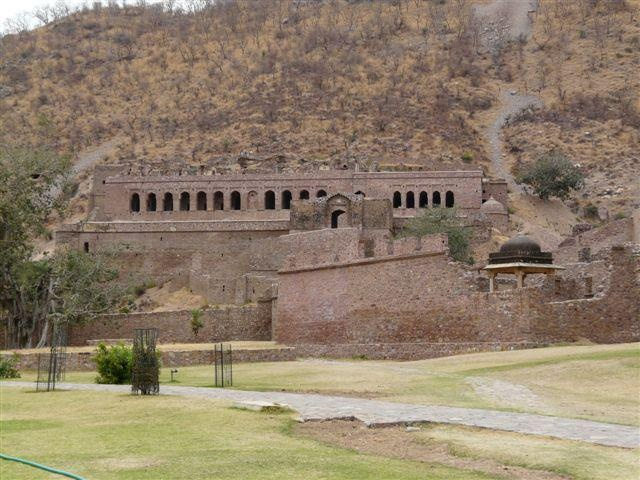 Bhangarh Fort, India. It is called the most haunted place on earth. And notorious for unexplainable disapperings during the night...The authorities placed warning signs at every entrance saying it is prohibited to enter after sunset. Serious stuff I would say!