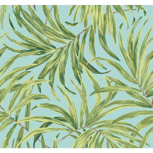 "York Wallcoverings Ashford Tropics 27' x 27"" Bali Leaves Wallpaper"
