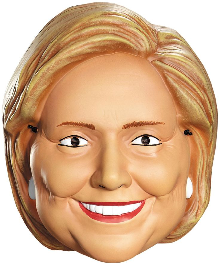 PartyBell.com - Hillary Clinton Vacuform Election Half #Mask