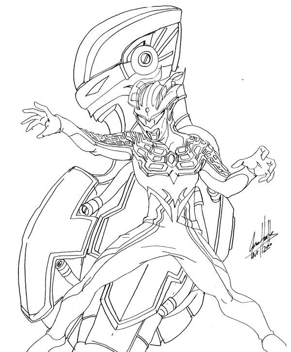 Ultraman Zero Coloring Pages Sketch Coloring Page Warna Gambar