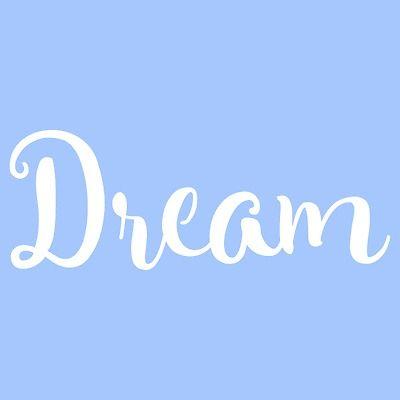 "7"" Dream Stencil Word Stencils Template Templates Pattern Background Craft New"