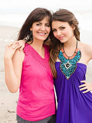 (Would do this for a friend shoot) Nickelodeon's Victoria Justice and mom Serene Justice-Reed: http://www.familycircle.com/teen/parenting/teen-celebrities-and-their-moms/