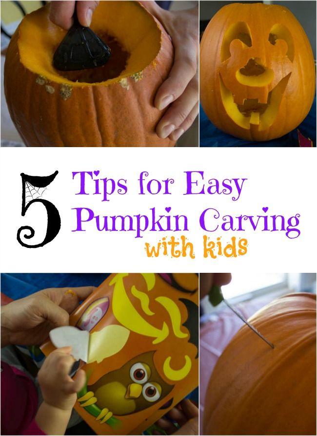 how to carve a pumpkin -- drill holes Halloween Fun BOO - halloween activities ideas