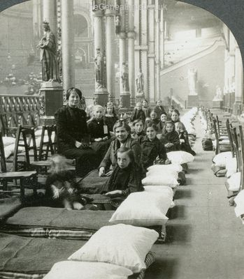 Belgium Refugees housed in Alexandra Palace, London, WW1
