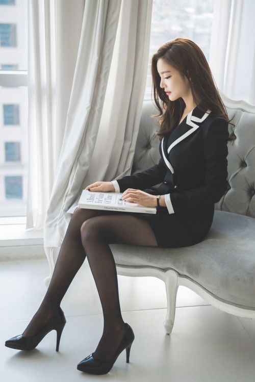 Pantyhose office girl secretary