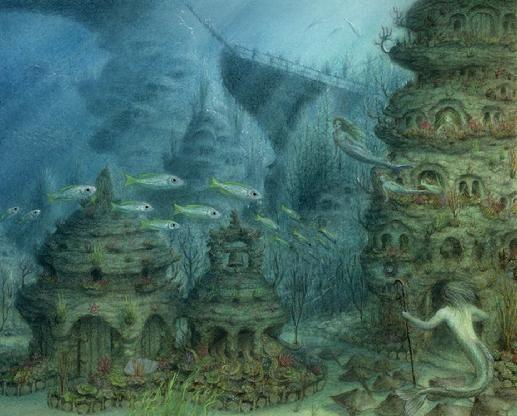 page from Ari Berk's Secret history of Mermaids