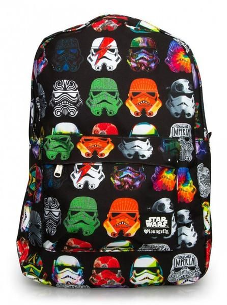 """Star Wars Multicolored Stormtrooper"" Backpack by Loungefly (Black)"