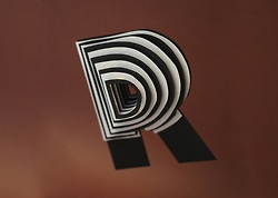 Space Paper Typography by Jerome Corgier