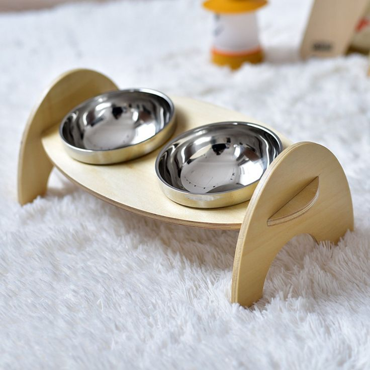 ==> [Free Shipping] Buy Best Stainless Steel Anti-skid Dog Cat Food Water Bowl Wooden Pet Feeding Tool Travel Dog Feeder Mascota Perro Pet Product Online with LOWEST Price | 32813103650