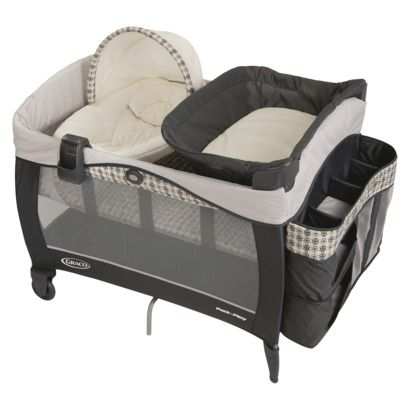 Graco Newborn Napper Elite Pack 'n Play Playard-   This is a newer version of the one we have and love!  Madeline loved sleeping in the Newborn napper beside the bed.  I had a C/S and could easily roll over to get her for BFing at night since it sits up so high.