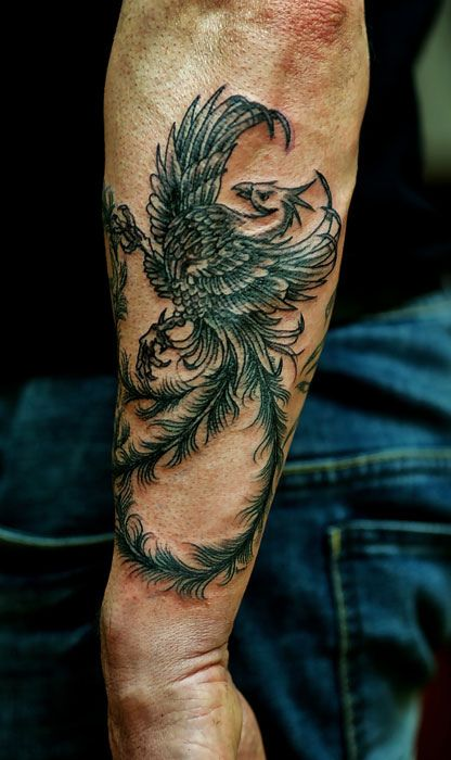 Some interesting meanings behind this one across many different cultures  #Phoenix #tattoo