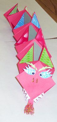 Origami Dragon Book! Can write about the Chinese New Year or facts about China or collect images.