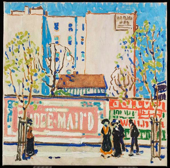 David Milne born near Burgoyne, Ontario, 1882; died Bancroft, Ontario, 1953 Pink Billboard around 1912