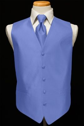Cornflower blue vest/tie