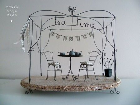 tea time wire art