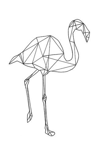 GEOMETRIC FLAMINGO
