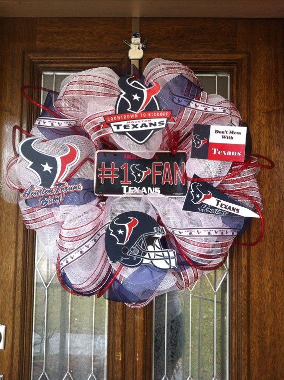 Houston Texans Deco Mesh Wreath  by SissyGirlsCreations on Etsy