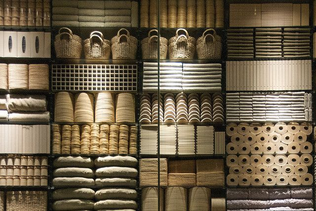 MUJI Store Display by Dan Parham, via Flickr, display,