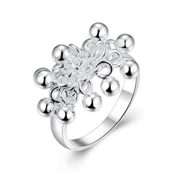 Free Shipping 2015 Lovely  silver plated rings for men Grapes prices in euros  jewerly accessories SMTR016