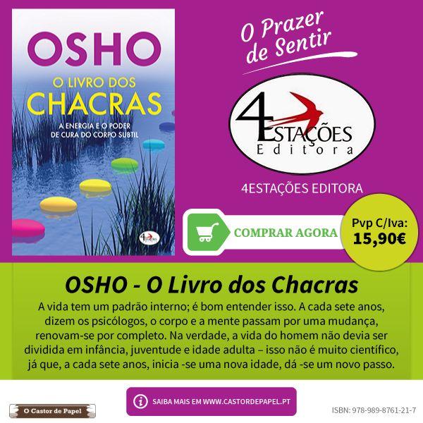 O Castor de Papel: O Livro dos Chacras, de Osho. 4Estações Editora