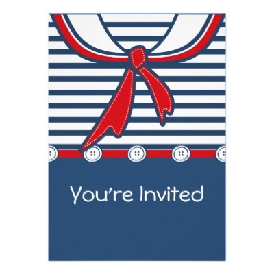 Baby Sailor Suit B Announcement from Zazzle.com  Boy or girl